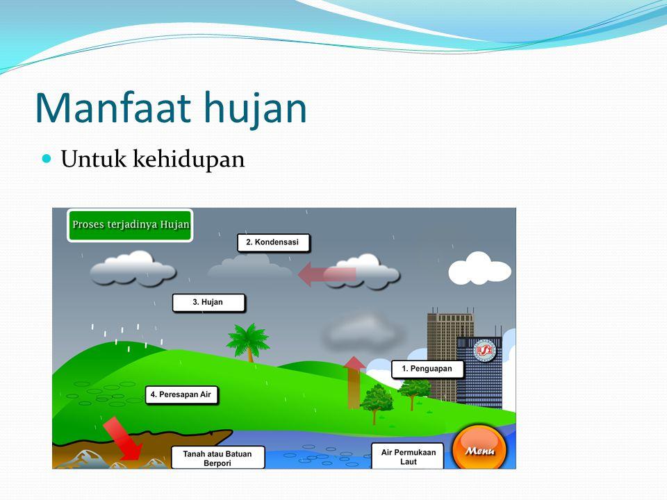 Manfaat hujan Untuk kehidupan
