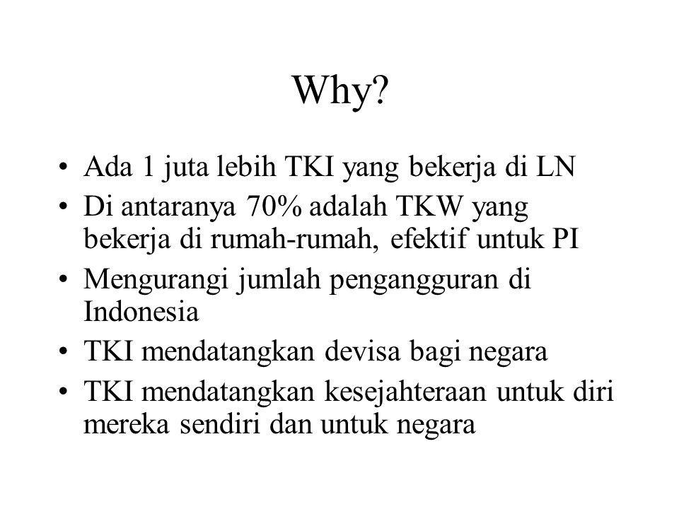 Why Ada 1 juta lebih TKI yang bekerja di LN