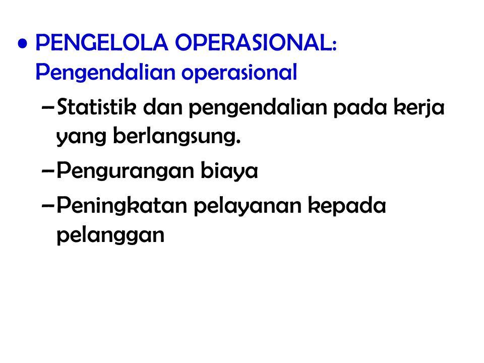 PENGELOLA OPERASIONAL: Pengendalian operasional