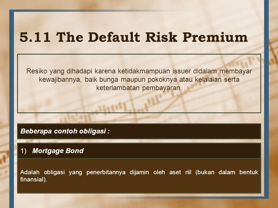 5.11 The Default Risk Premium