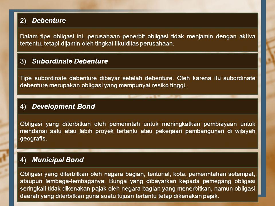 3) Subordinate Debenture