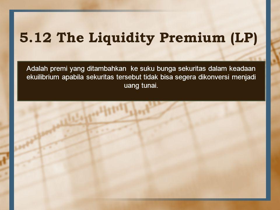 5.12 The Liquidity Premium (LP)