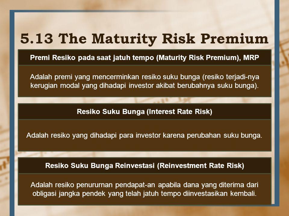 5.13 The Maturity Risk Premium