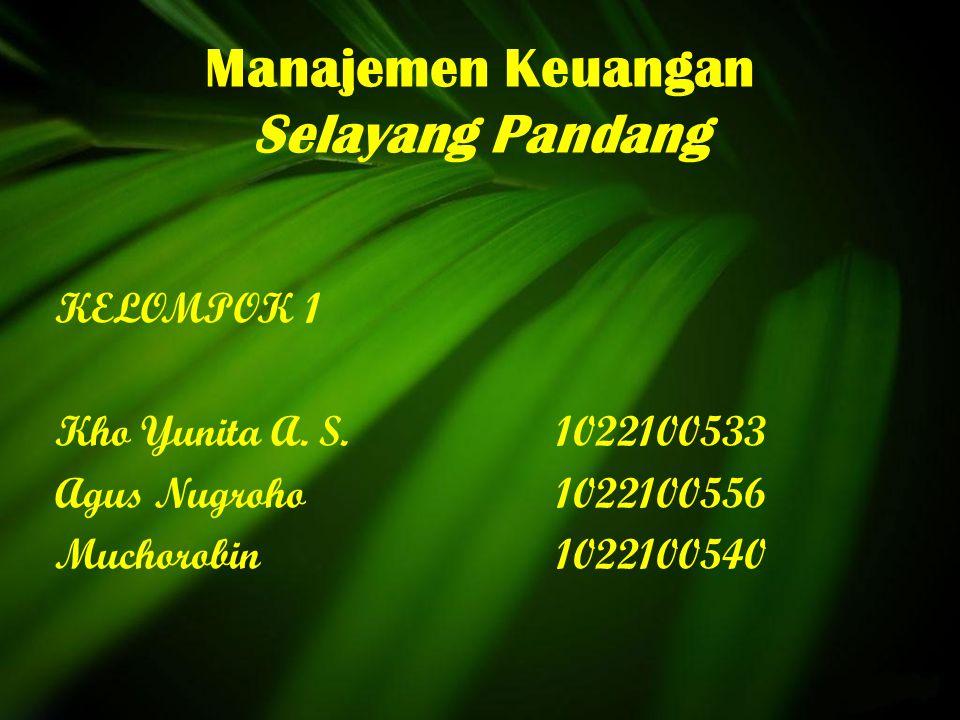 Manajemen Keuangan Selayang Pandang