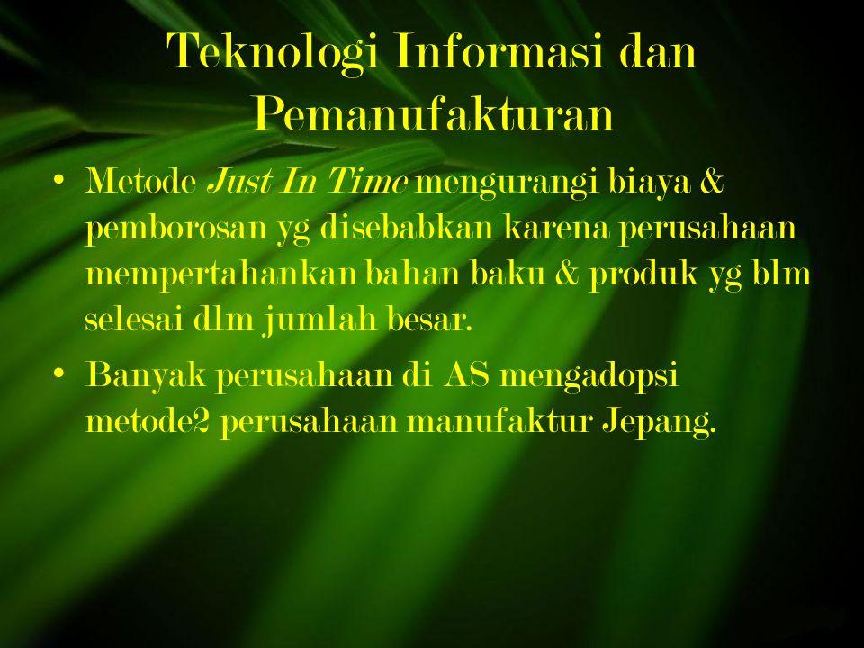 Teknologi Informasi dan Pemanufakturan
