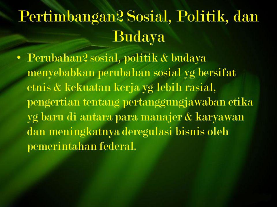 Pertimbangan2 Sosial, Politik, dan Budaya