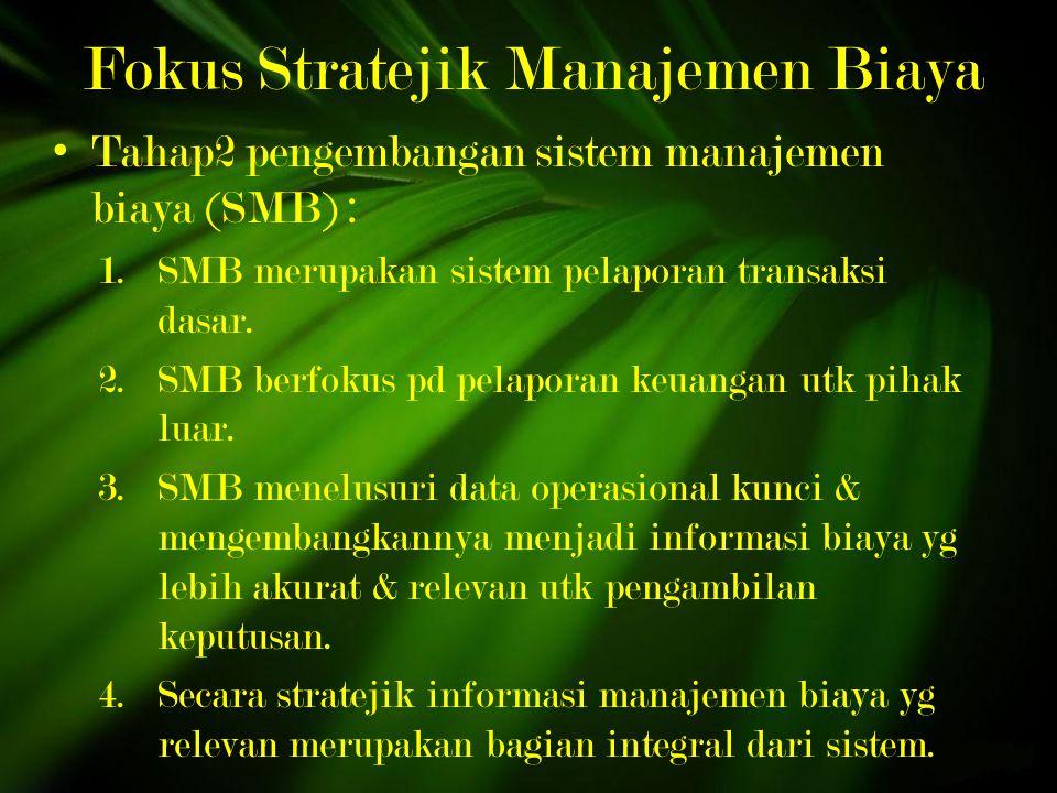 Fokus Stratejik Manajemen Biaya
