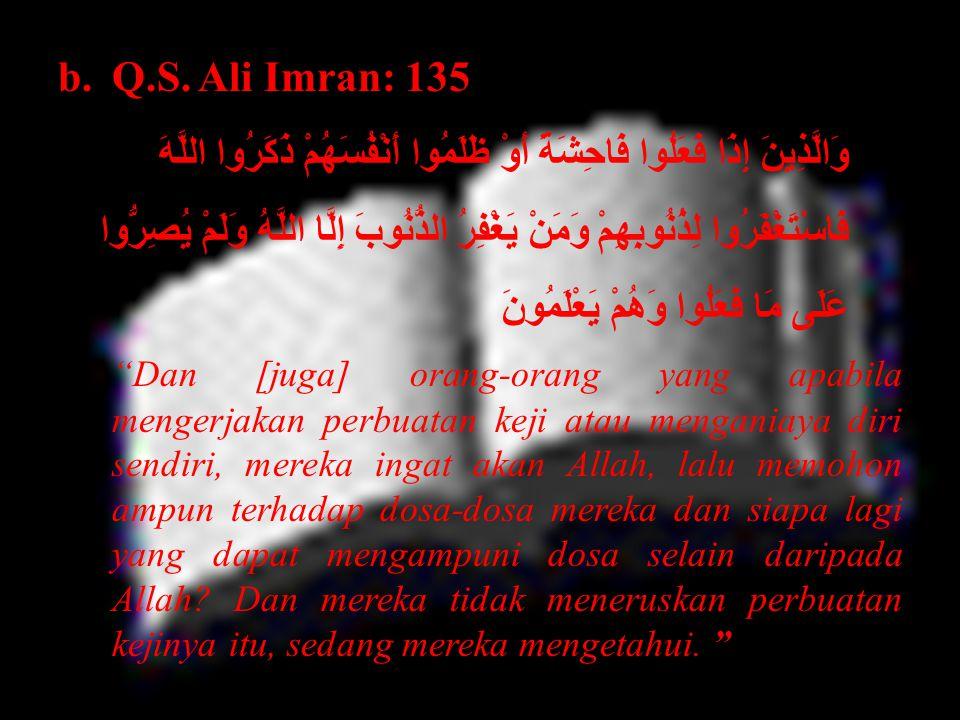 Q.S. Ali Imran: 135
