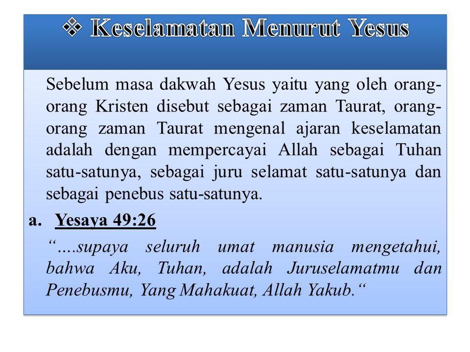 Keselamatan Menurut Yesus