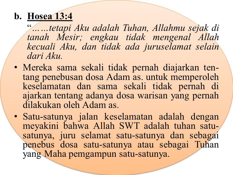 b. Hosea 13:4
