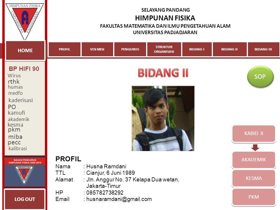 BIDANG II SOP rthk PO pkm miba pecc PROFIL BP HIFI 90 kaderisasi