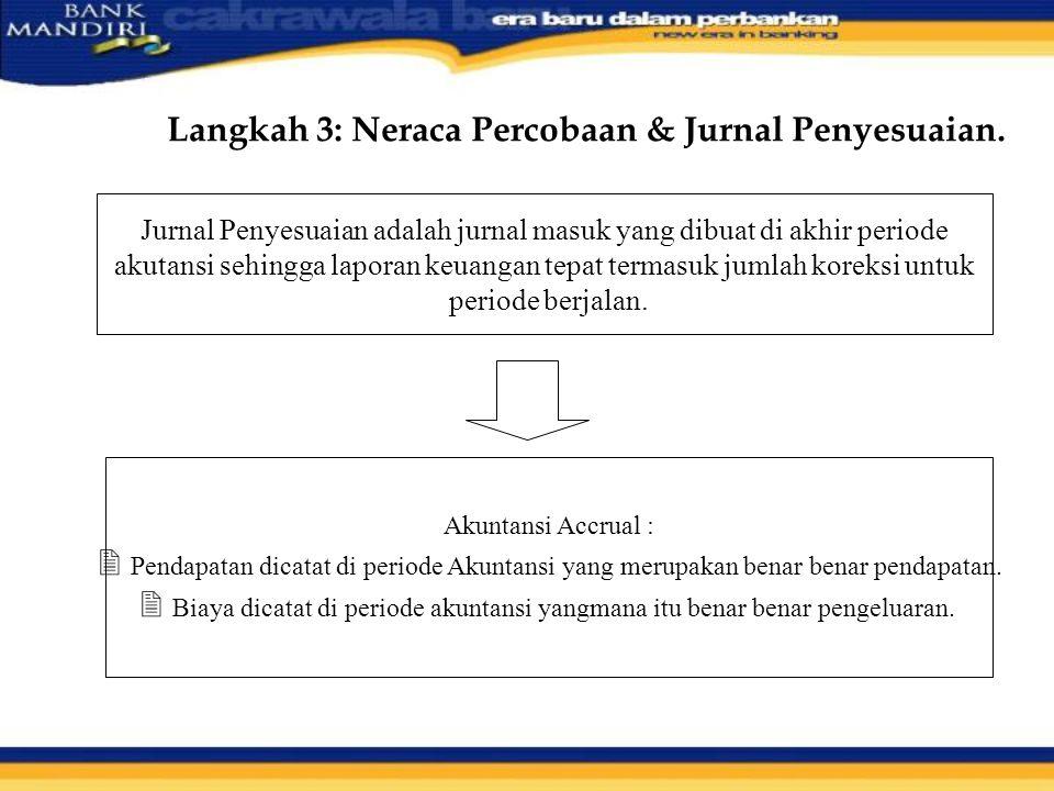 Langkah 3: Neraca Percobaan & Jurnal Penyesuaian.