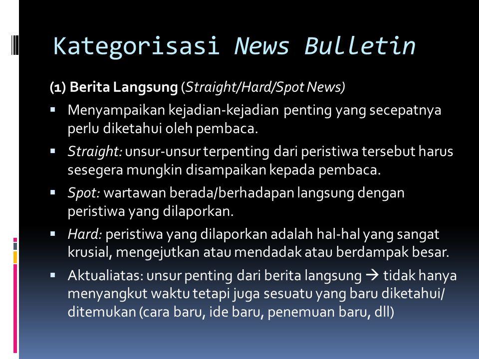 Kategorisasi News Bulletin