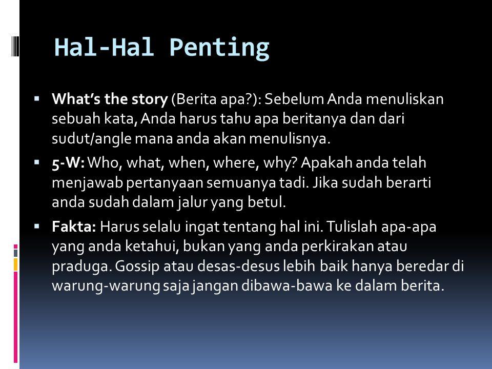 Hal-Hal Penting