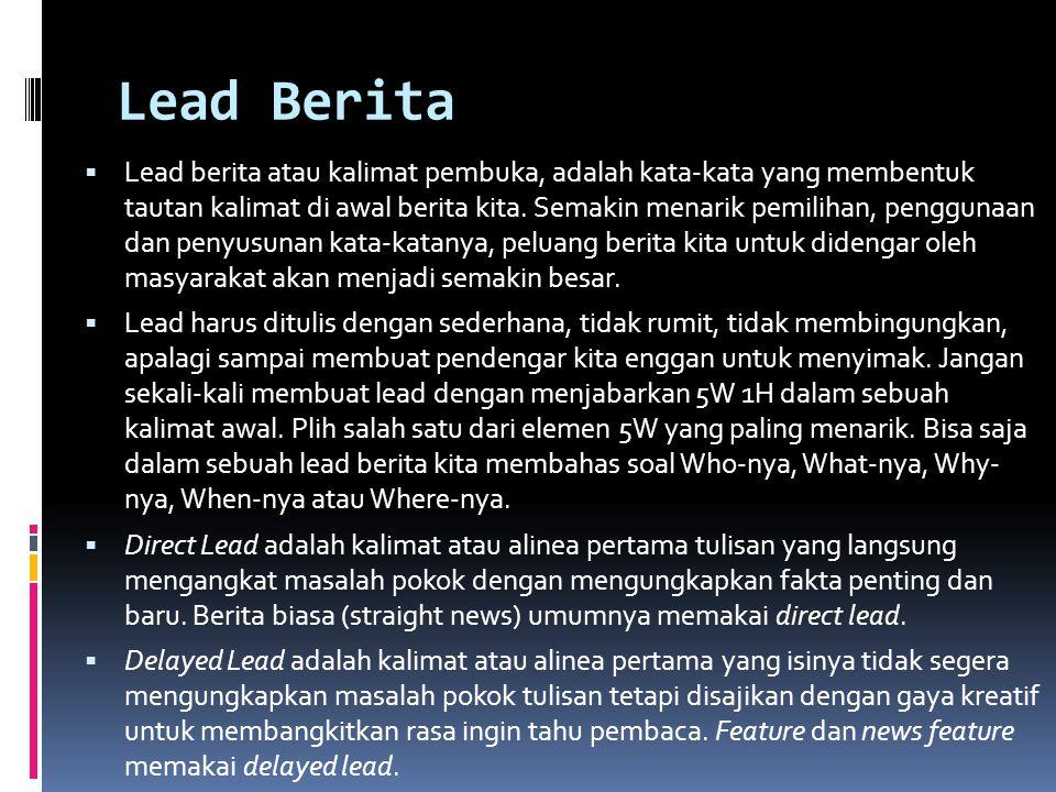 Lead Berita
