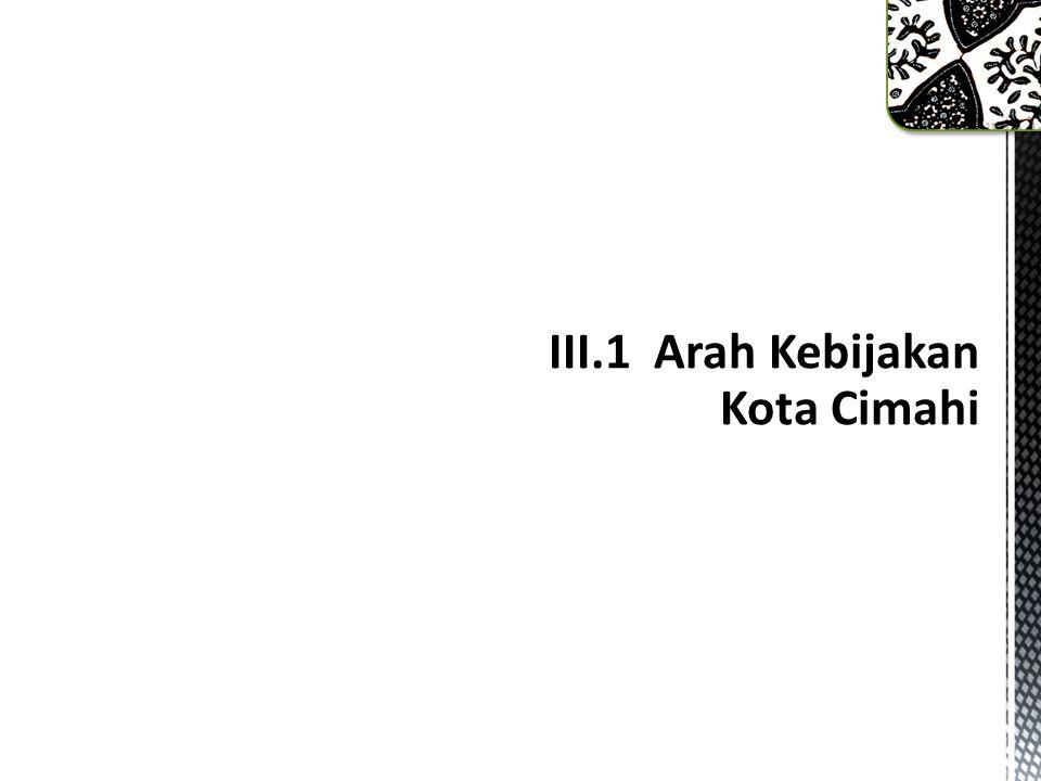 III.1 Arah Kebijakan Kota Cimahi