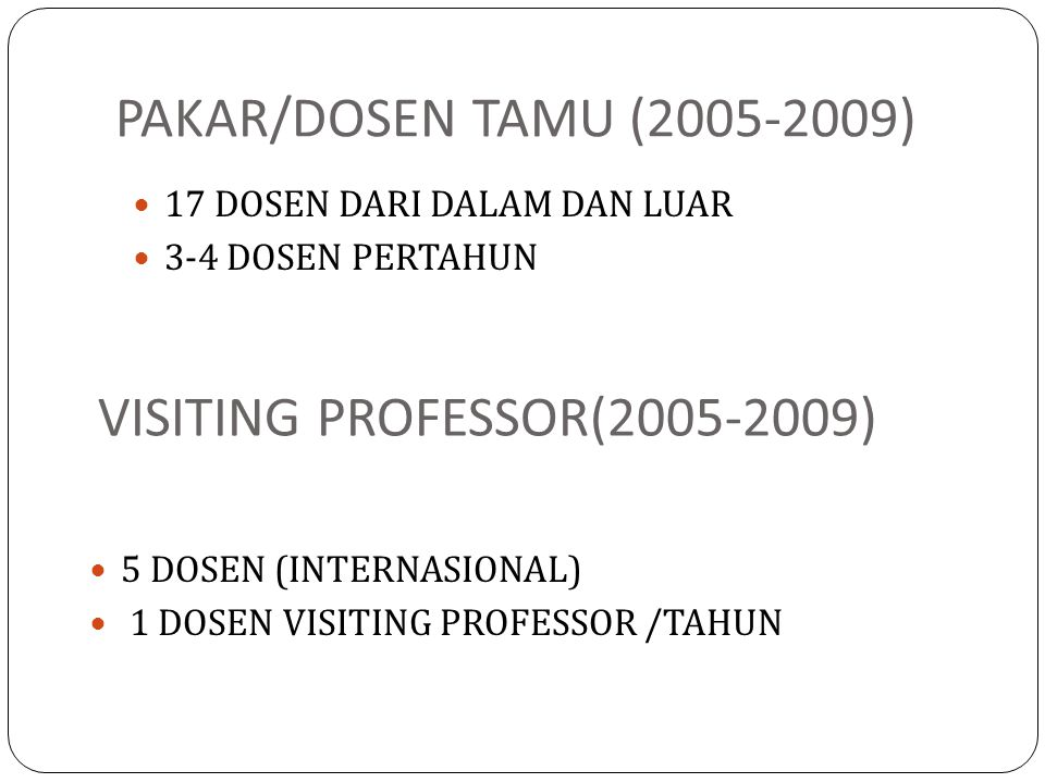 VISITING PROFESSOR(2005-2009)