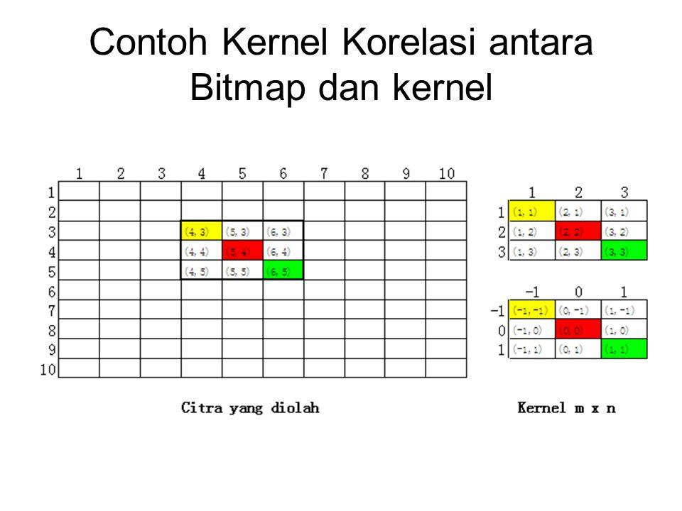 Contoh Kernel Korelasi antara Bitmap dan kernel