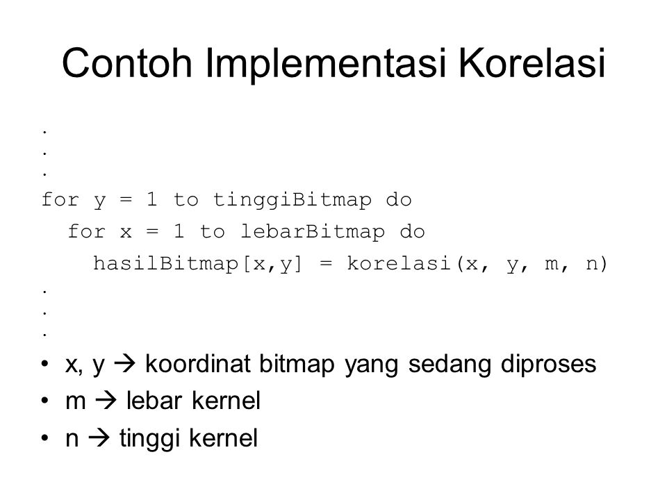Contoh Implementasi Korelasi
