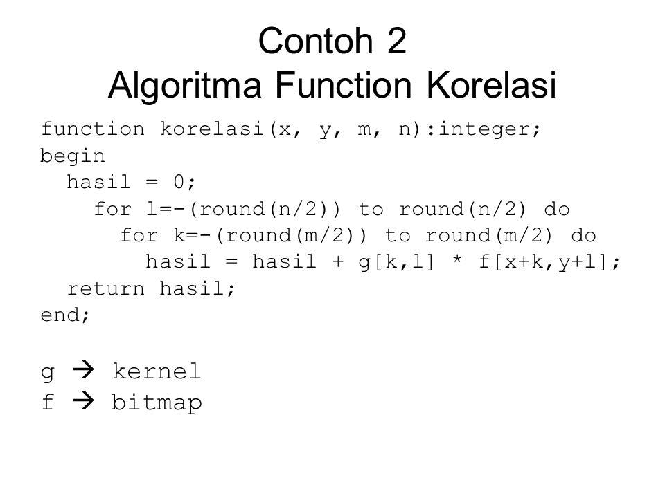 Contoh 2 Algoritma Function Korelasi