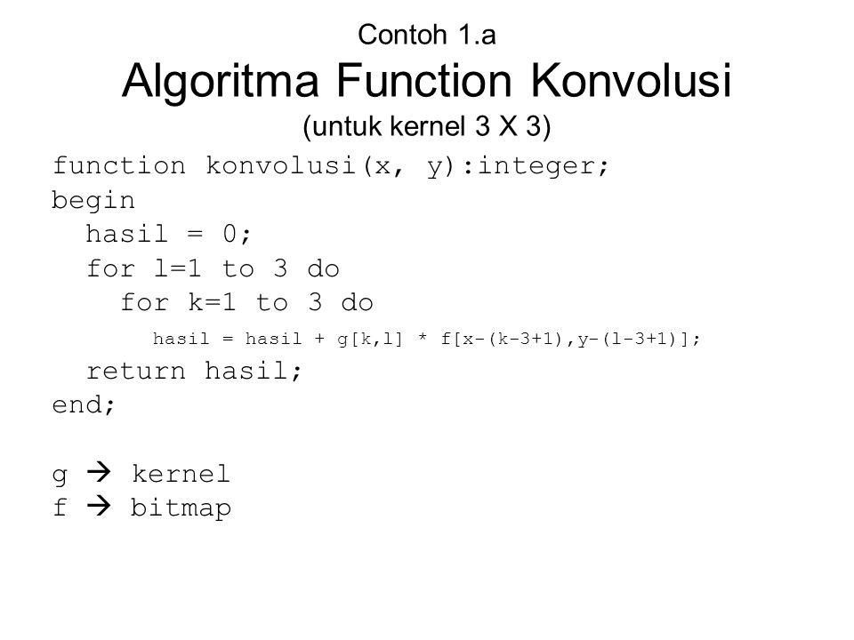 Contoh 1.a Algoritma Function Konvolusi (untuk kernel 3 X 3)