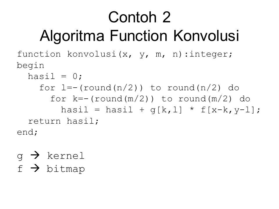 Contoh 2 Algoritma Function Konvolusi