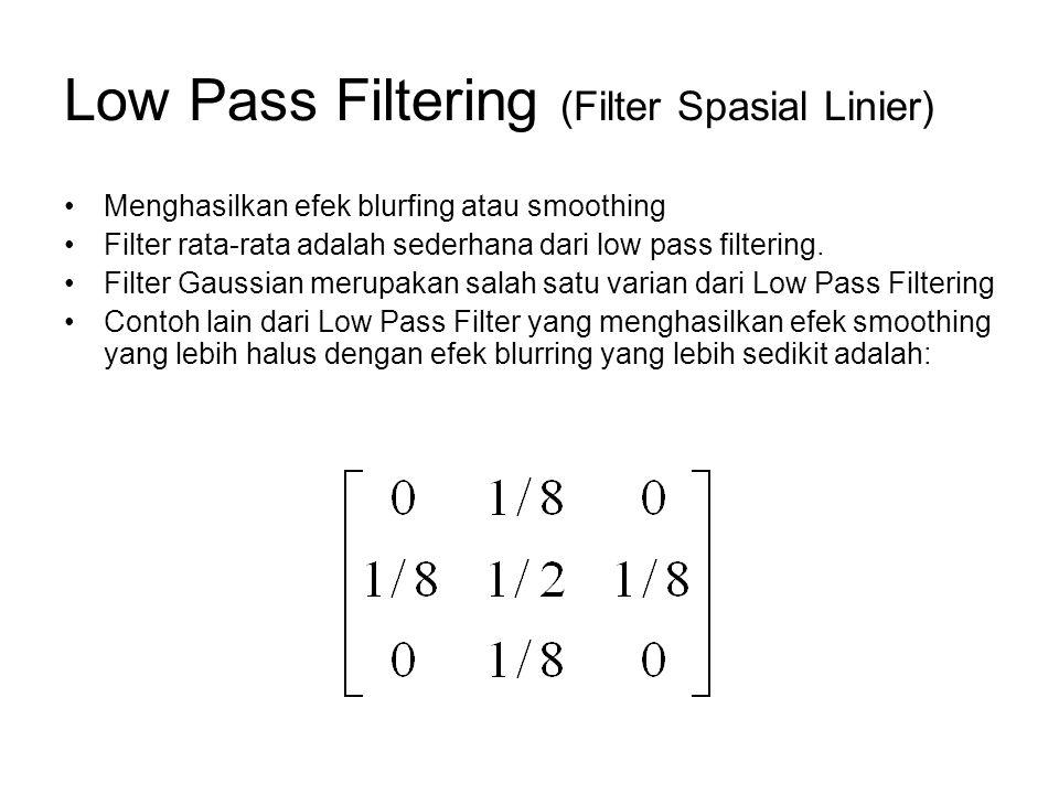 Low Pass Filtering (Filter Spasial Linier)