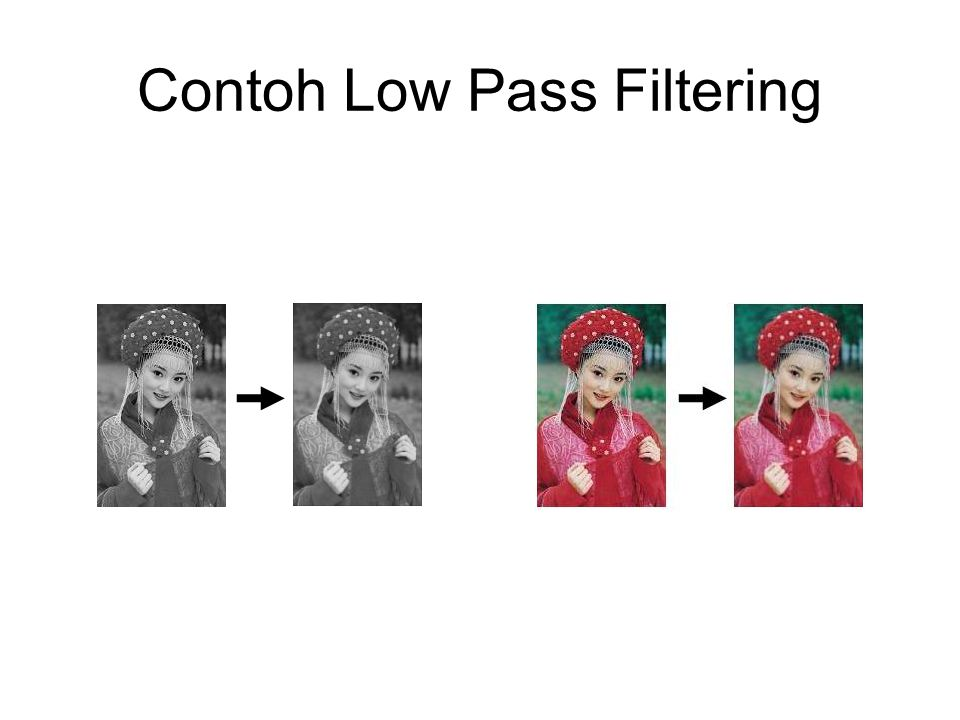Contoh Low Pass Filtering