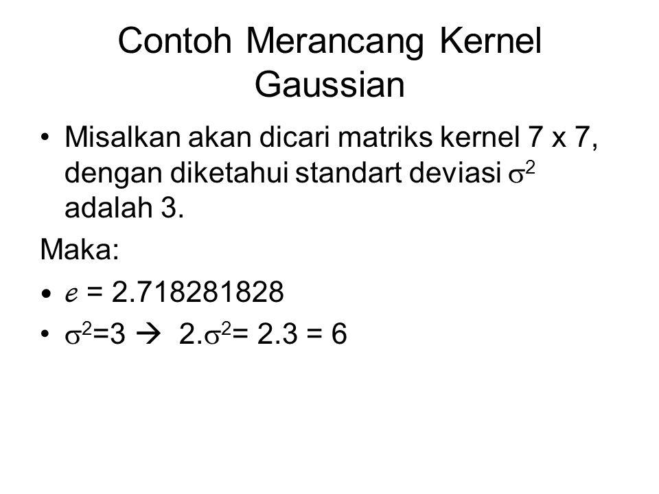 Contoh Merancang Kernel Gaussian