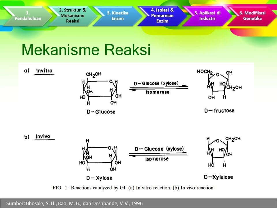2. Struktur & Mekanisme Reaksi 4. Isolasi & Pemurnian Enzim