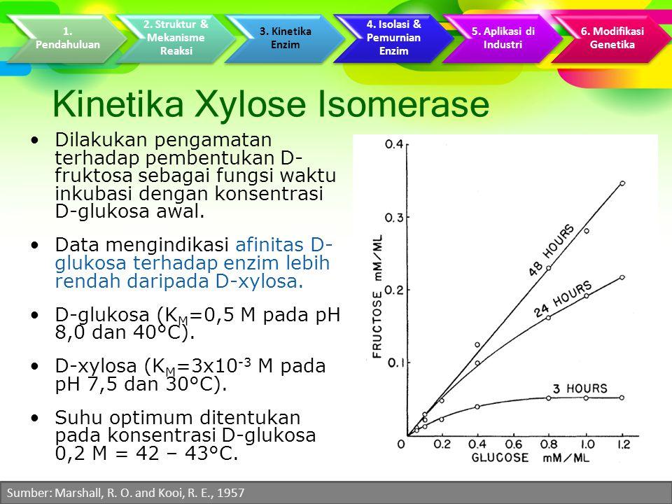 Kinetika Xylose Isomerase