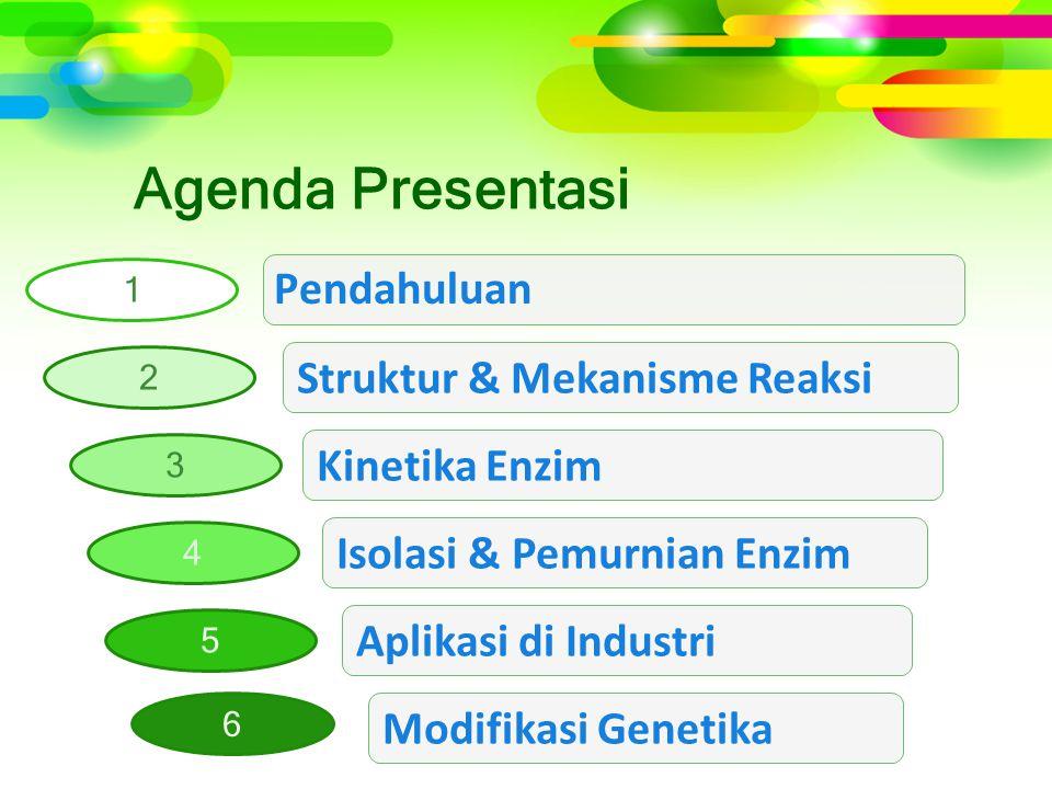 Agenda Presentasi Struktur & Mekanisme Reaksi Kinetika Enzim