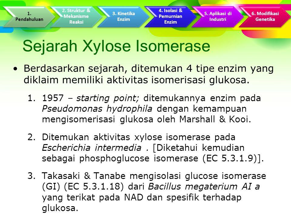 Sejarah Xylose Isomerase