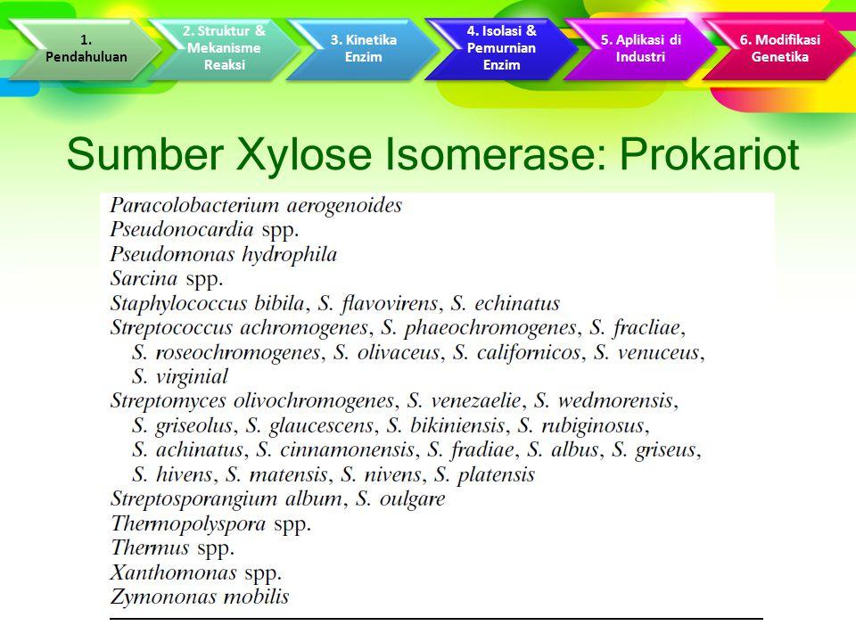 Sumber Xylose Isomerase: Prokariot