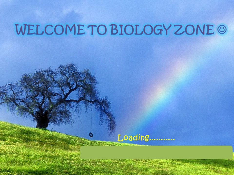 WELCOME TO BIOLOGY ZONE 