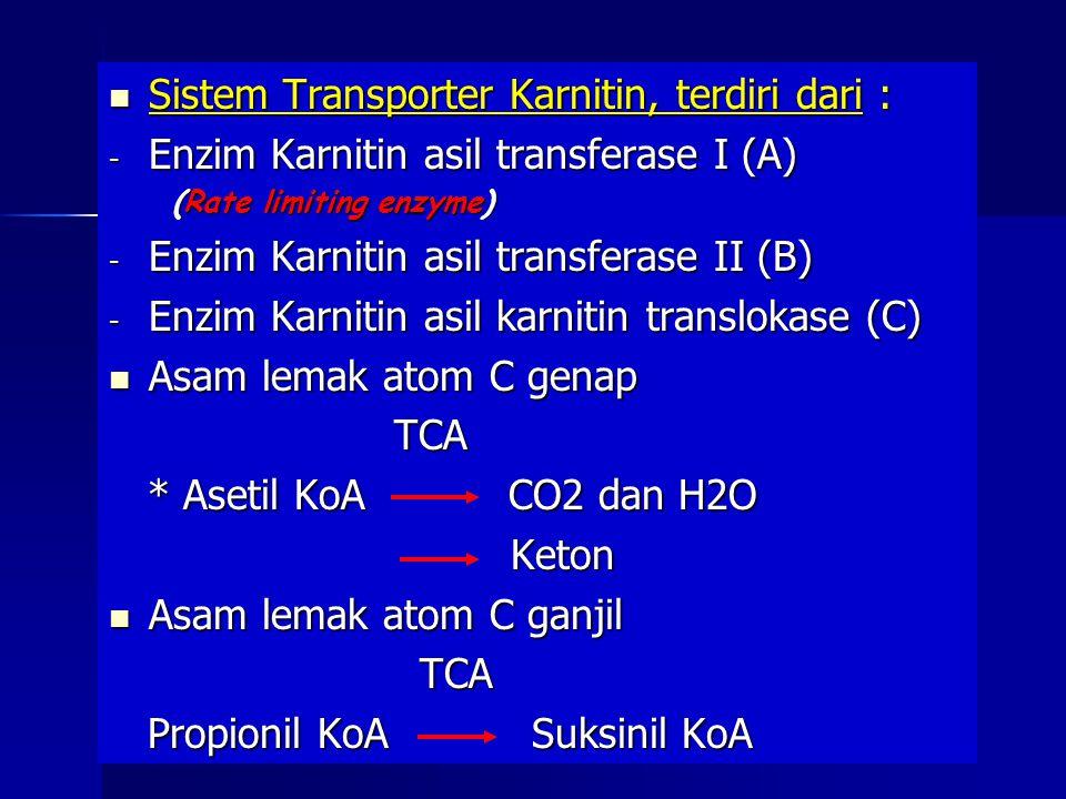 Sistem Transporter Karnitin, terdiri dari :