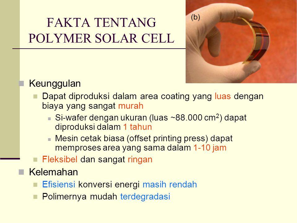 FAKTA TENTANG POLYMER SOLAR CELL