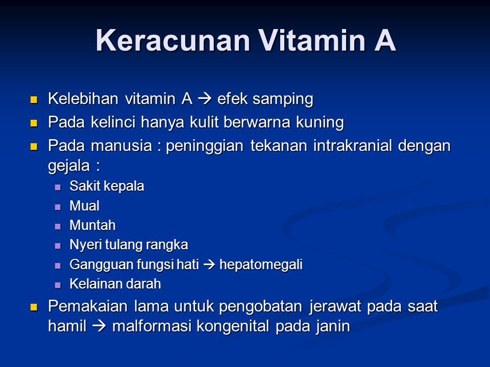 Keracunan Vitamin A Kelebihan vitamin A  efek samping