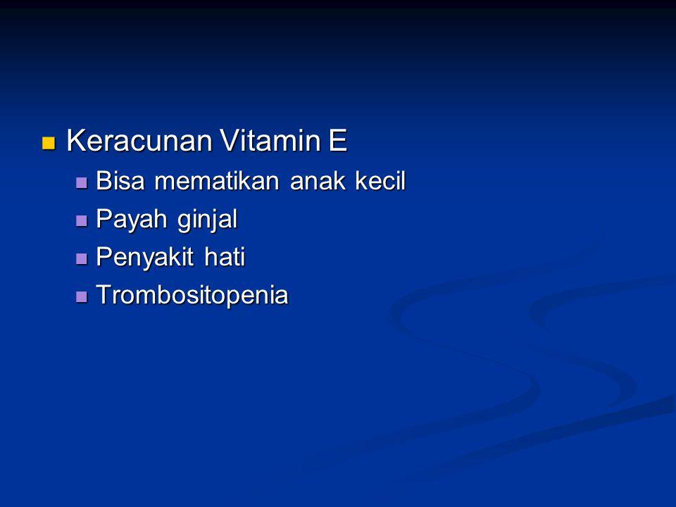 Keracunan Vitamin E Bisa mematikan anak kecil Payah ginjal