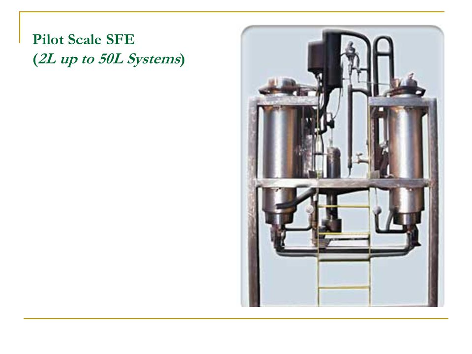 Pilot Scale SFE (2L up to 50L Systems)