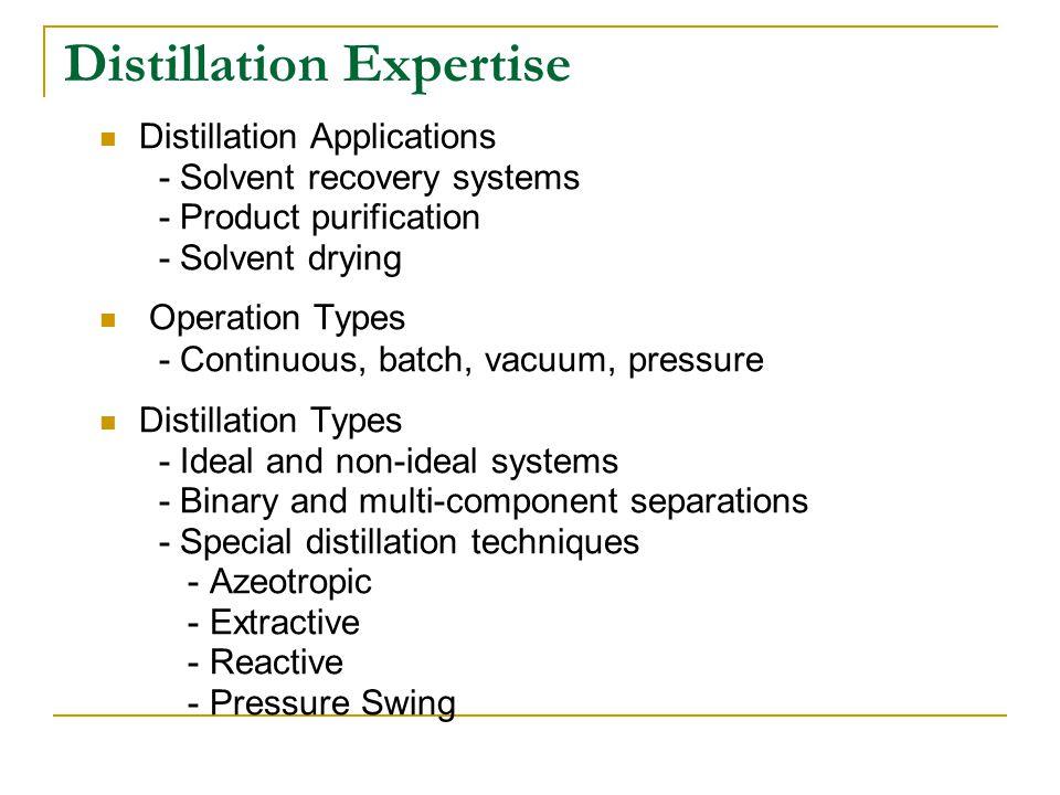 Distillation Expertise