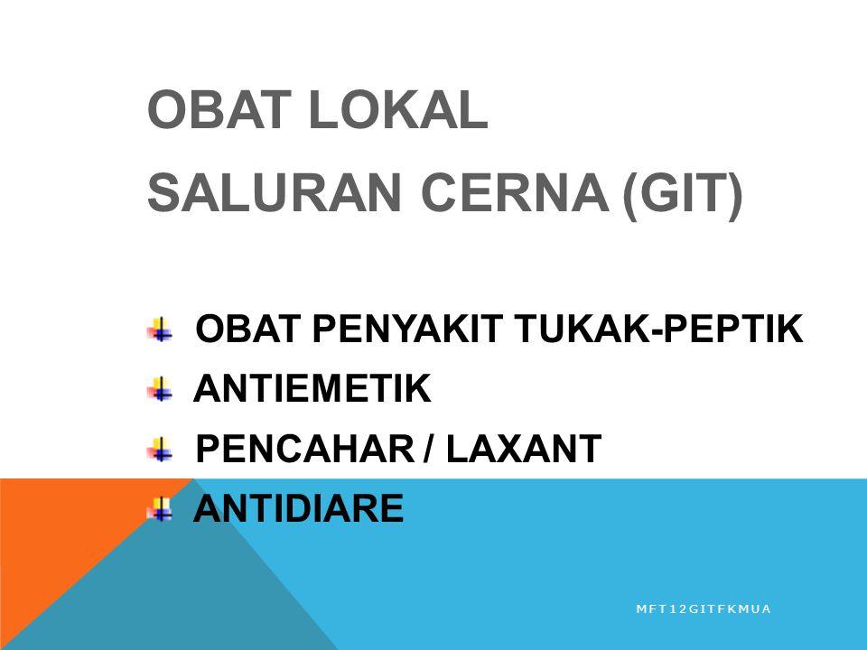 OBAT LOKAL SALURAN CERNA (GIT) OBAT PENYAKIT TUKAK-PEPTIK ANTIEMETIK