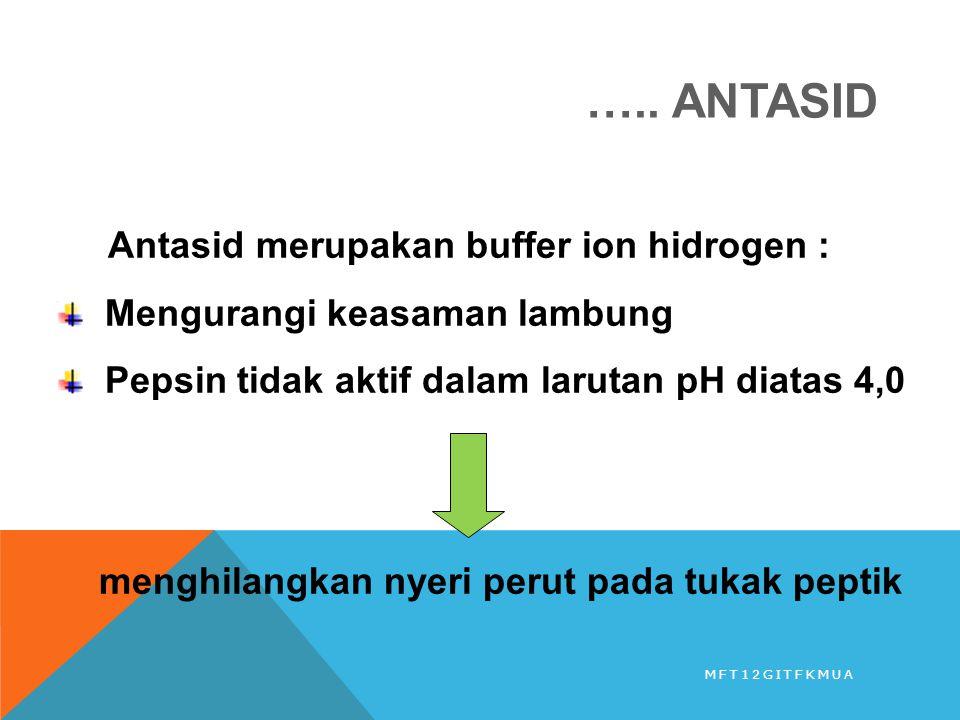 ….. ANTASID Antasid merupakan buffer ion hidrogen :
