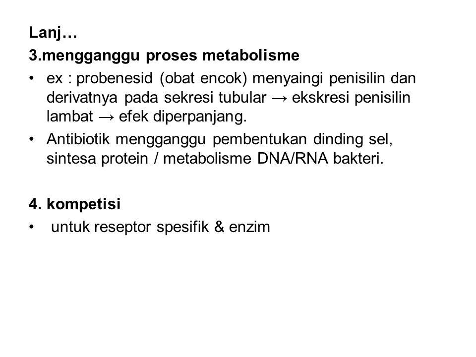 Lanj… 3.mengganggu proses metabolisme.