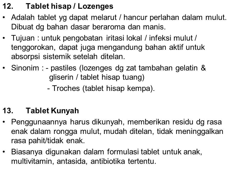 12. Tablet hisap / Lozenges