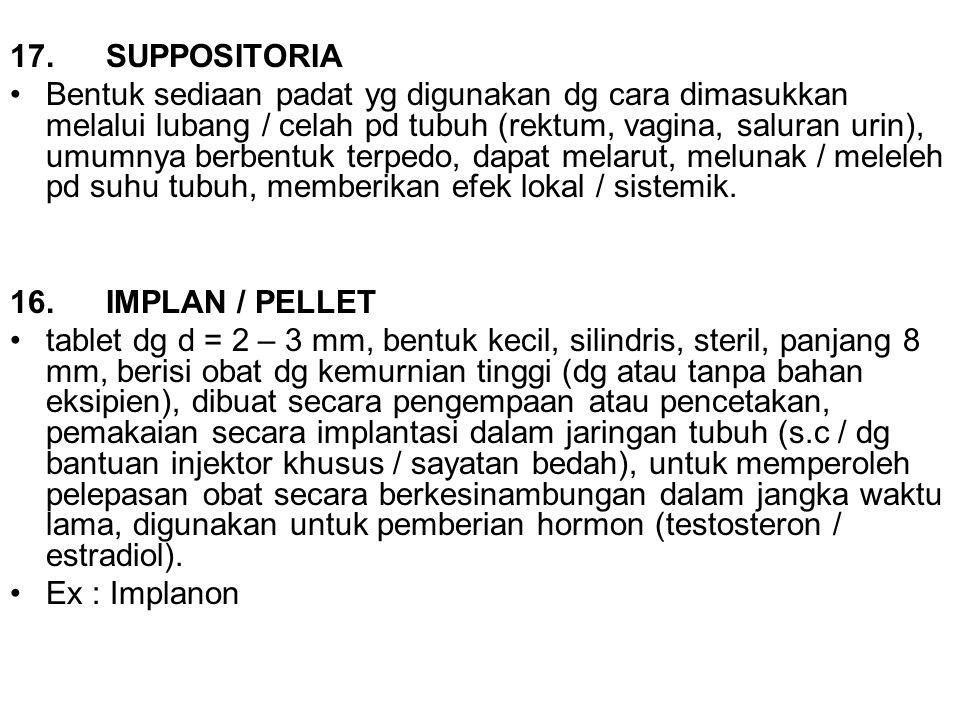 17. SUPPOSITORIA