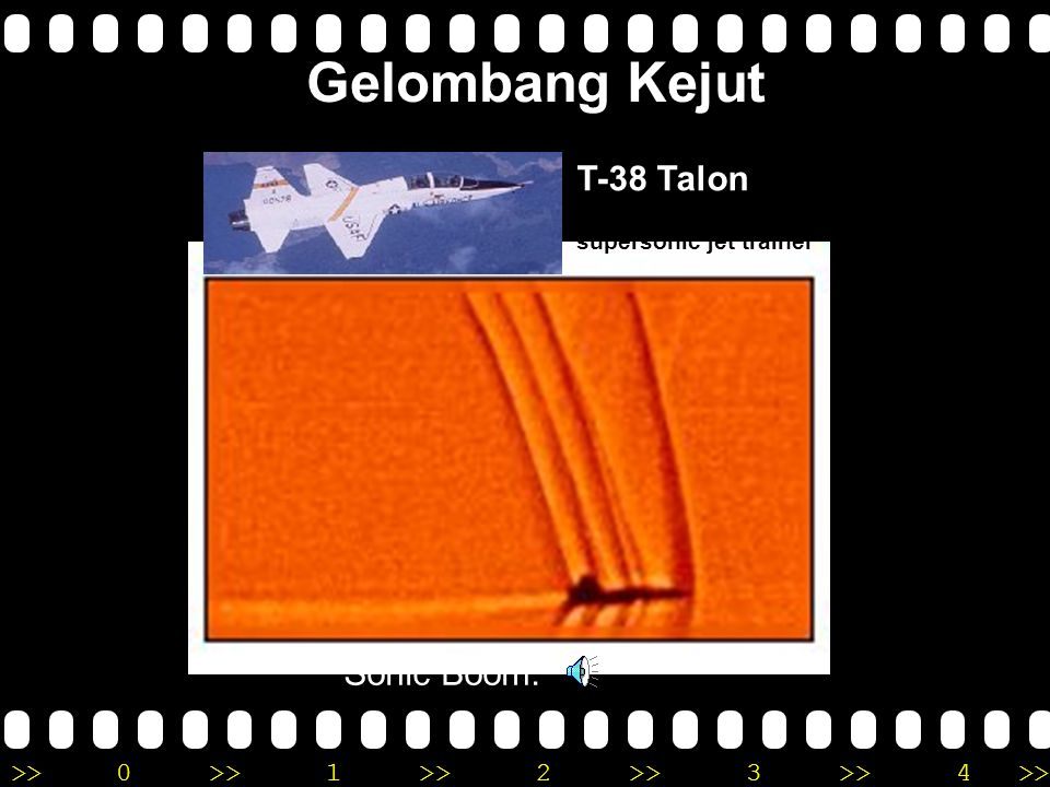Gelombang Kejut T-38 Talon twin-engine, high-altitude, supersonic jet trainer Sonic Boom: