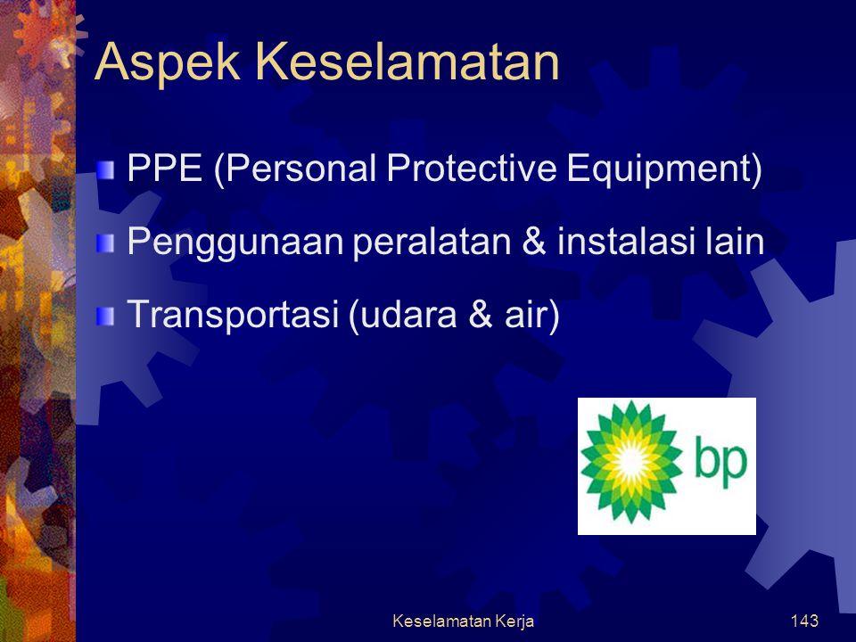 Aspek Keselamatan PPE (Personal Protective Equipment)