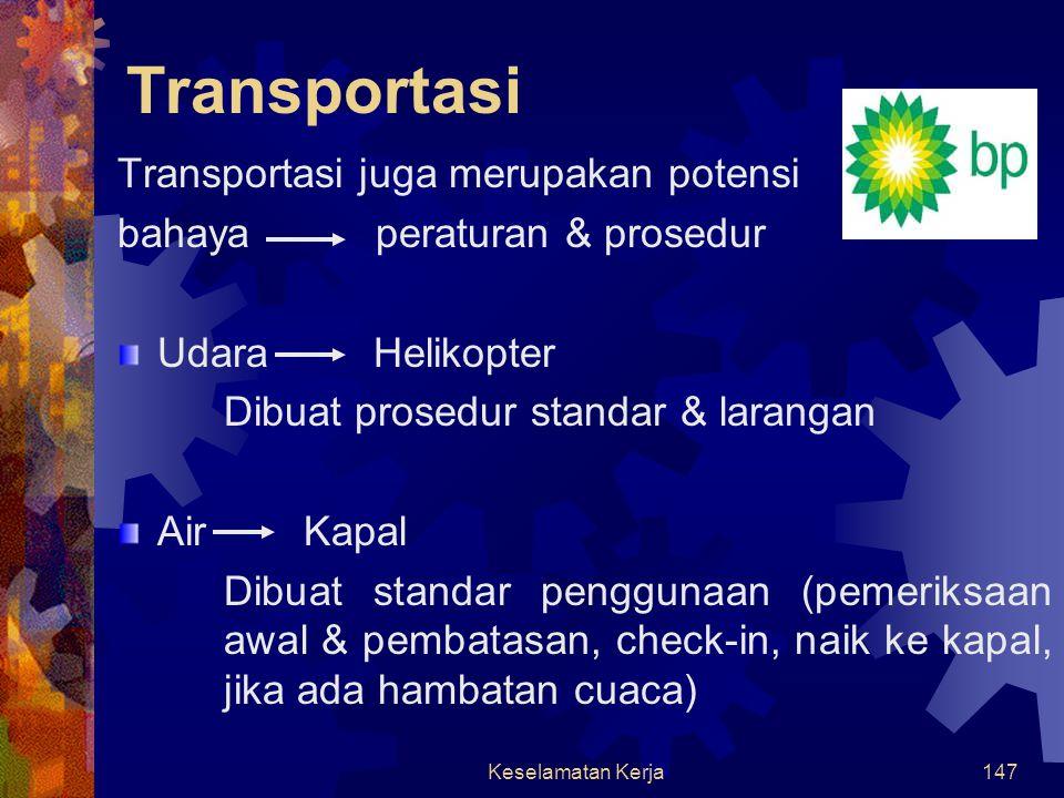 Transportasi Transportasi juga merupakan potensi