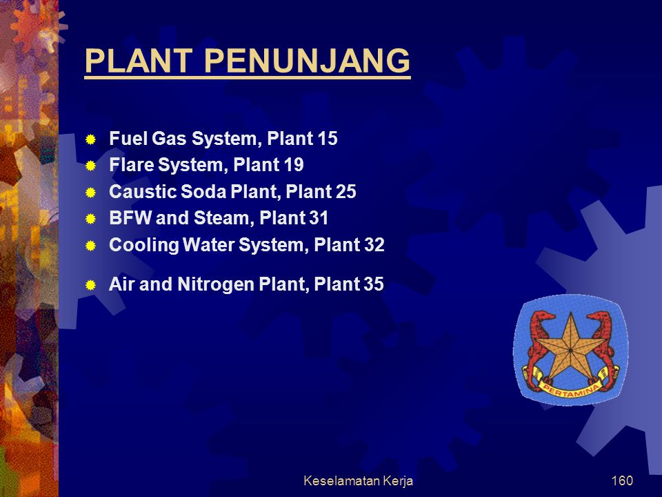 PLANT PENUNJANG Fuel Gas System, Plant 15 Flare System, Plant 19